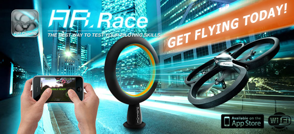 Parrot AR Drone - the ultimate augmented reality iphone and android real life flying game